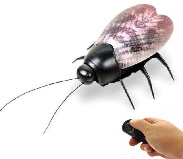 """Насекомое на радиоуправлении """"муха"""", с подсветкой, мини-робот, интерактивная игрушка beetle fluoresc фото №1"""