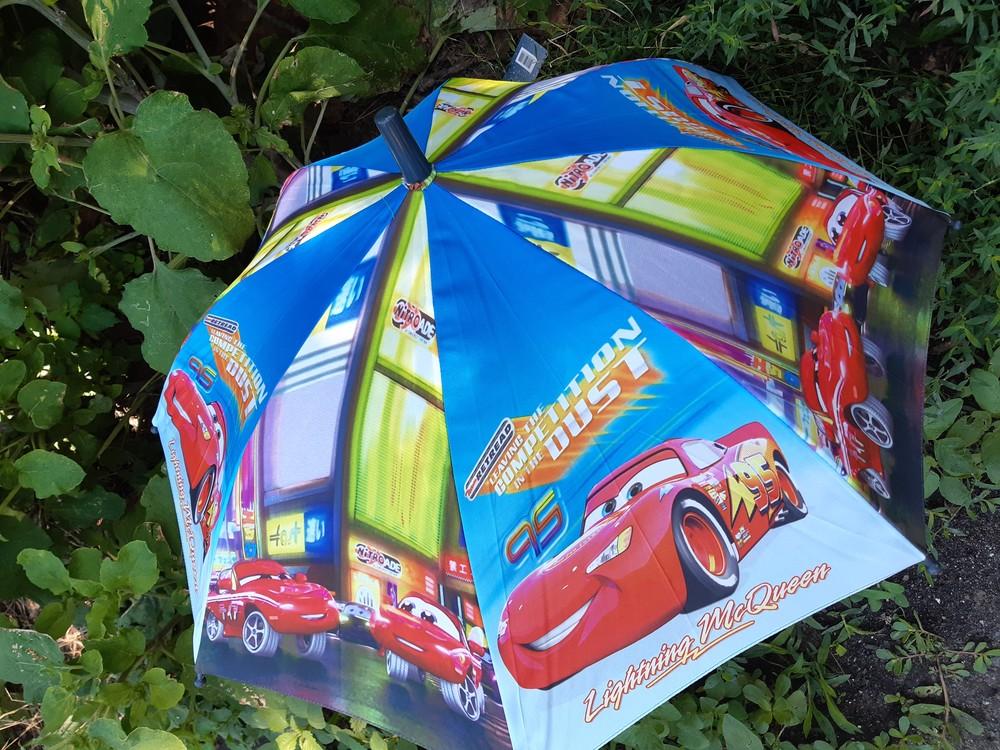 Яркий качественный зонт зонтик трость тачки fiaba для мальчика 1,5- 3г фото №1