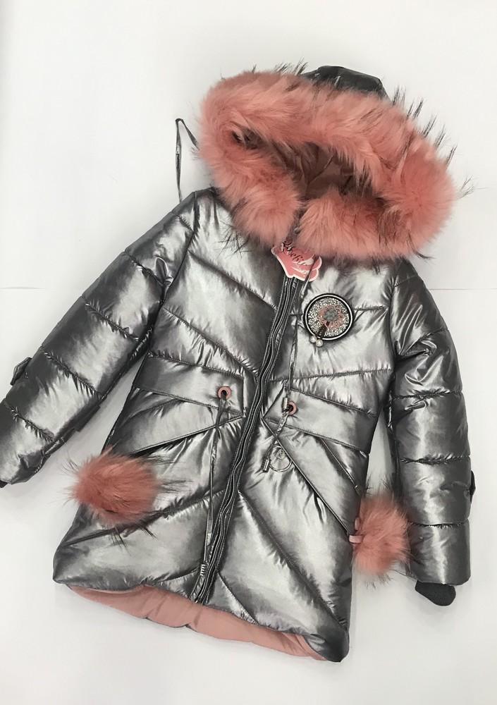 Распродажа! зимнее тёплое пальто на девочку фото №1