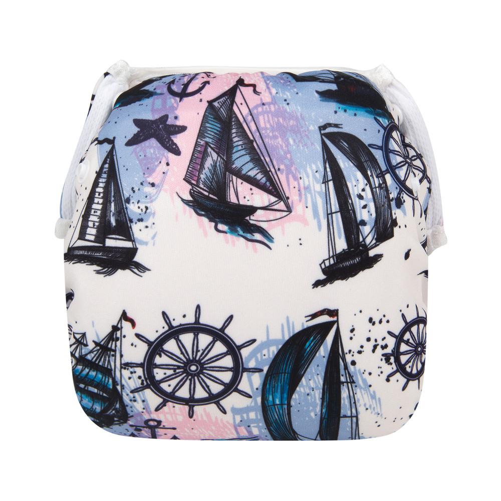 Многоразовый подгузник для плаванья кораблики berni фото №1