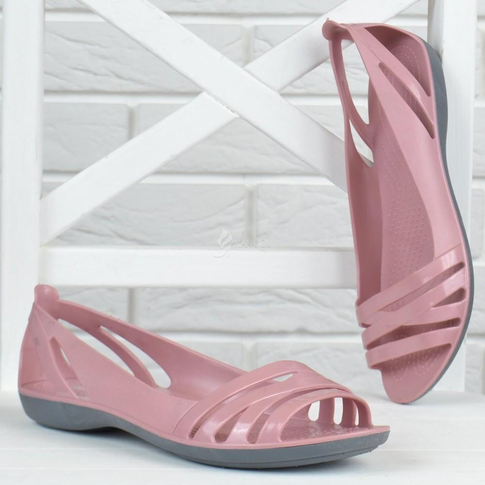 Балетки женские кроксы clogs huarache пудровые облегченные фото №1