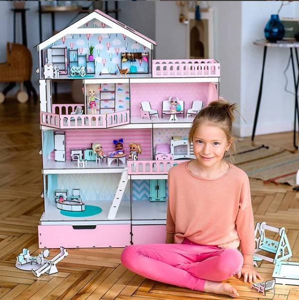 """Большой игровой набор: кукольный домик nestwood """"большой особняк для кукол лол + мебель + аксессуар фото №1"""