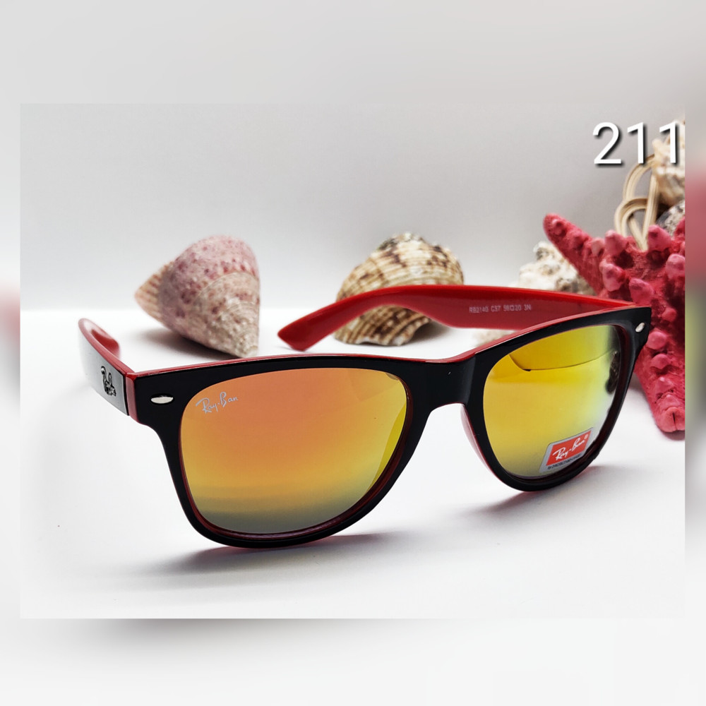 Сонцезахисні окуляри в червоно чорній оправі фото №1