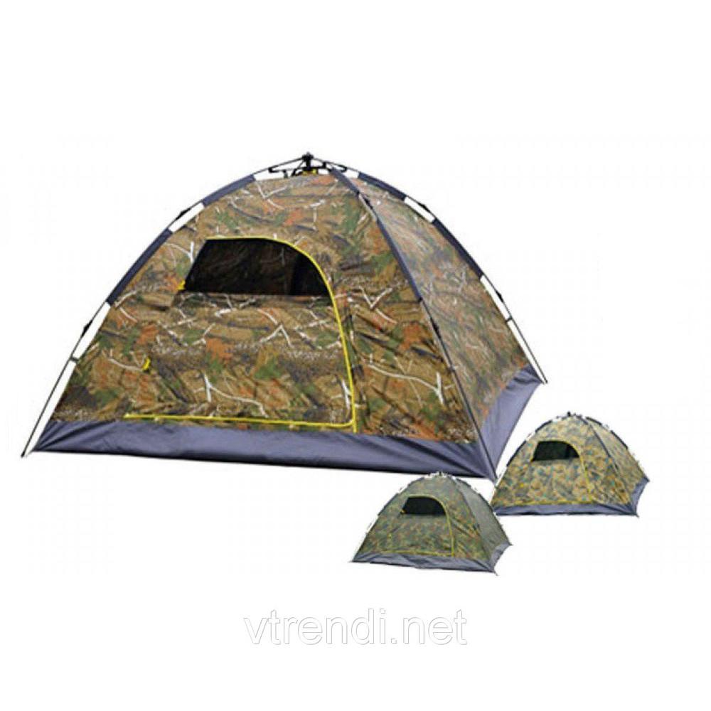 Палатка автоматическая smart camp, 4-х местная, камуфляж фото №1