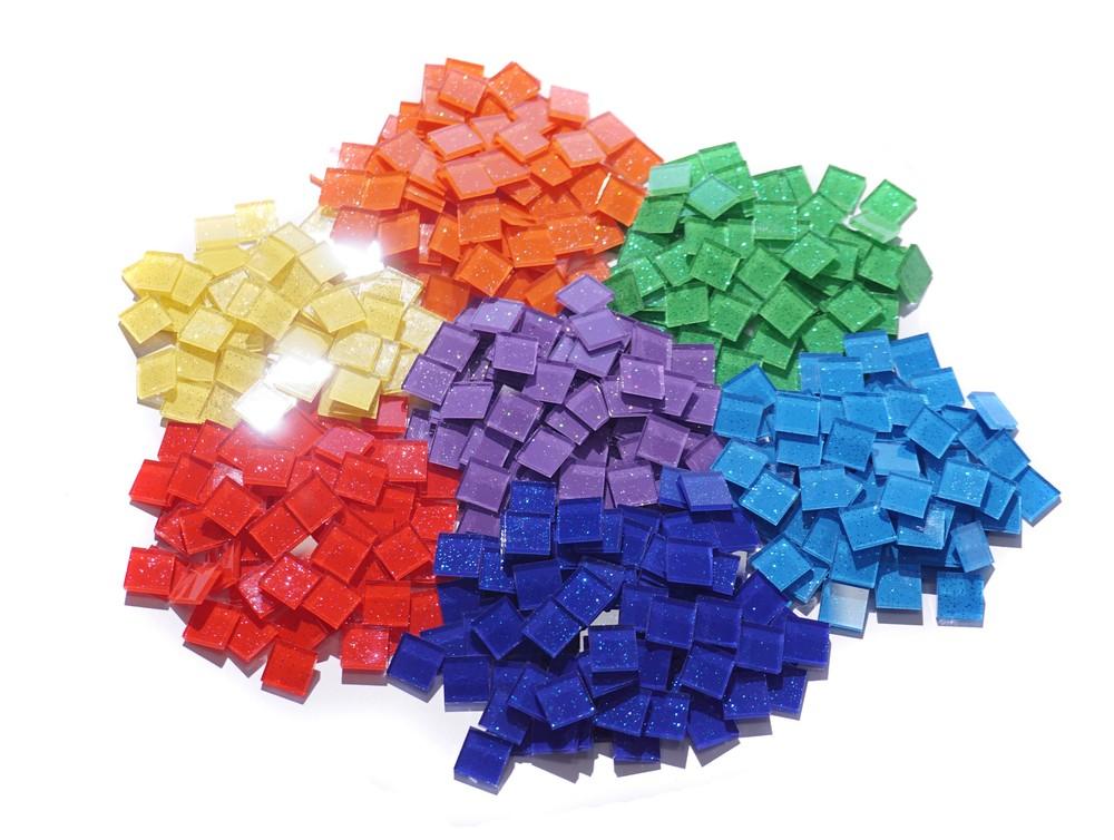 Цветная стеклянная мозаика для творчества фото №1