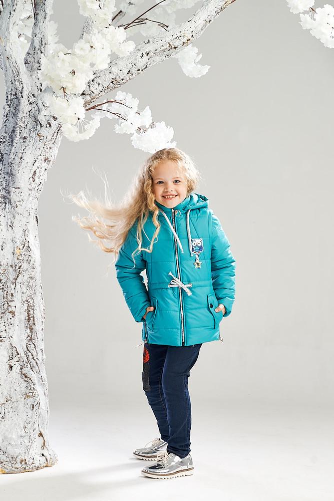Демисезонная курточка-жилетка на девочку 7-10 лет. размеры 122-140, k1402 фото №1