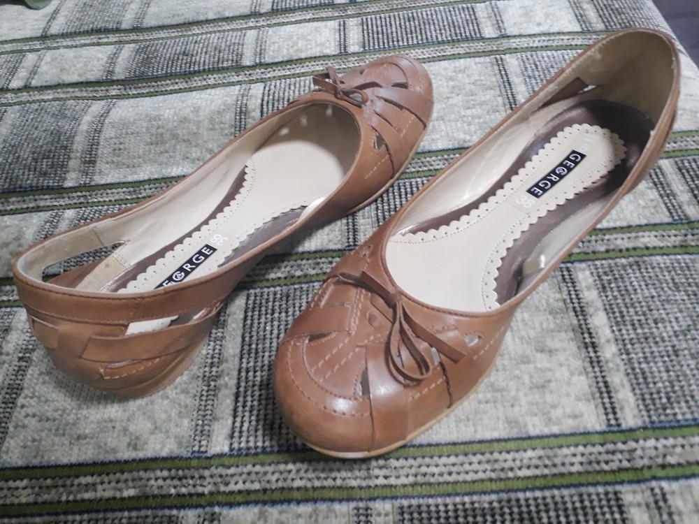 Летние туфли фирмы george, размер 38 фото №1