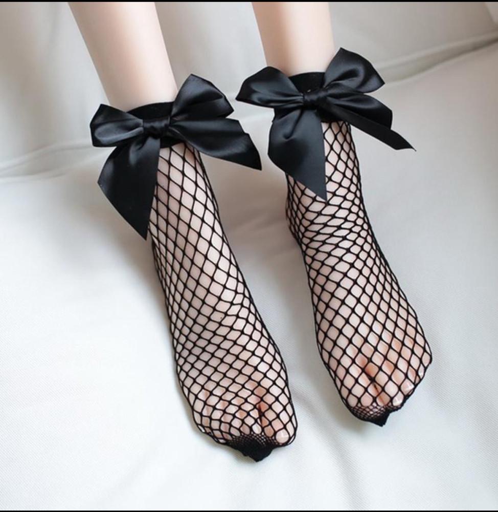 Модные носочки -сеточки фото №1