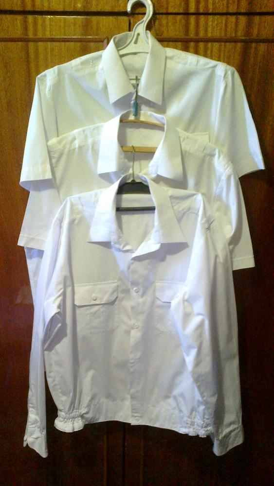 Комплект мужских рубашек 3 штуки размер наш 52-54 фото №1