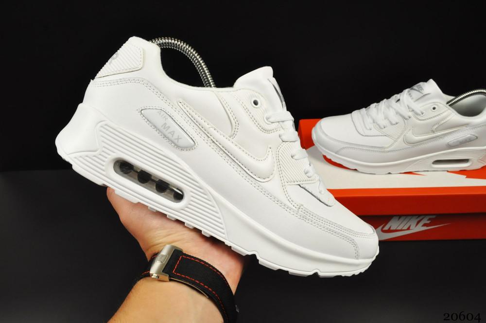 Кроссовки nike air max 90 (мужские, белые) фото №1