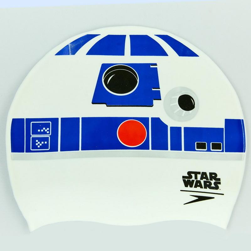Шапочка для плавания slogan print star wars 85c631: силикон, белый фото №1