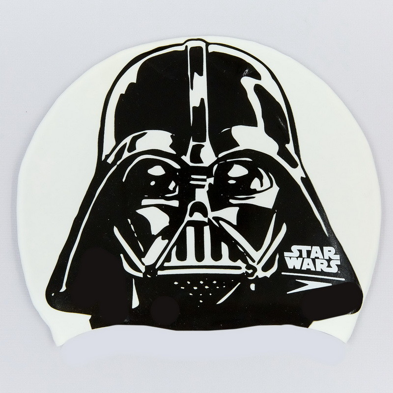 Шапочка для плавания star wars darth vader 85c854: силикон, белый фото №1