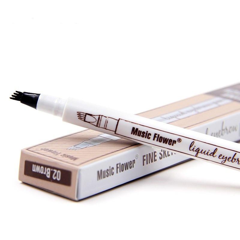 Жидкий карандаш с эффектом тату для бровей music flower серый фото №1