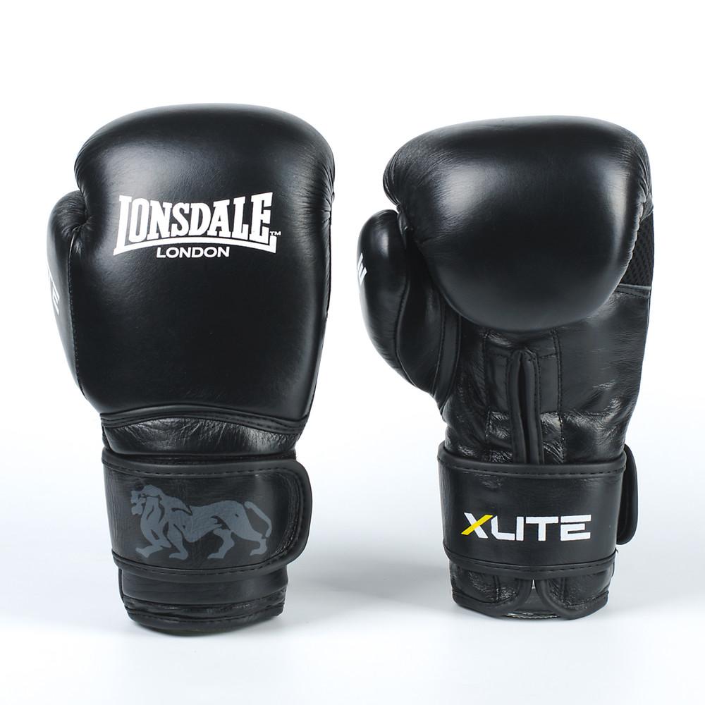 Перчатки боксерские кожаные на липучке lonsdale x lite 8336: 10-12 унций фото №1
