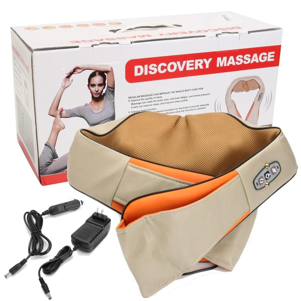 Мощный массажер с роликами massager of neck kneading фото №1