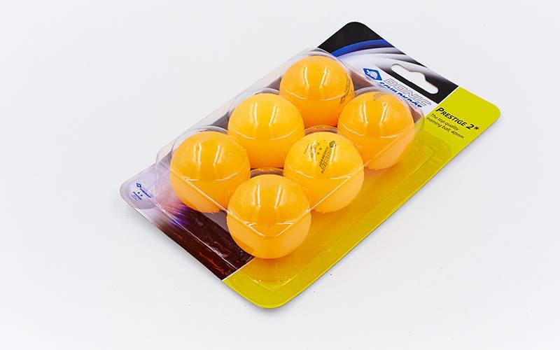 Набор мячей для настольного тенниса donic prestige 658028: 6 мячей в комплекте (2 star) фото №1