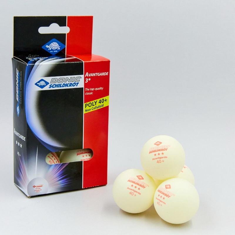 Набор мячей для настольного тенниса donic avantgarde 618036: 6 мячей в комплекте (3 star) фото №1