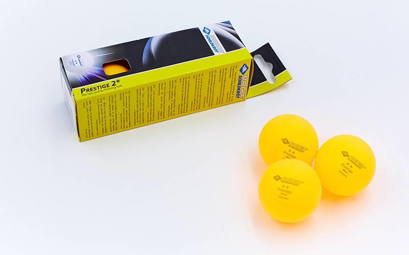Набор мячей для настольного тенниса donic prestige 608328: 3 мяча в комплекте (2 star) фото №1