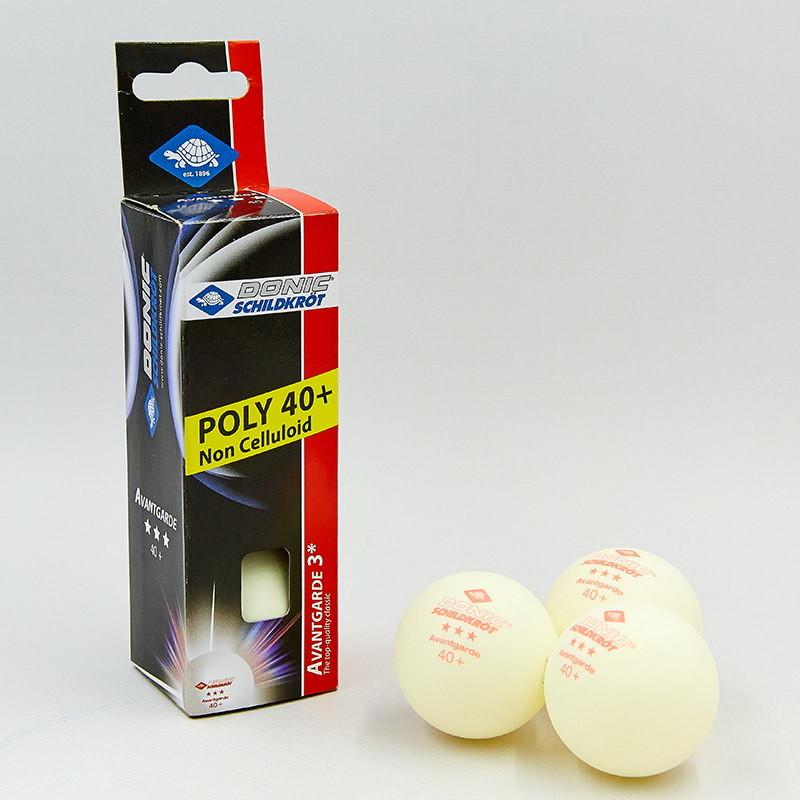 Набор мячей для настольного тенниса donic avantgarde 608334: 3 мяча в комплекте (3 star) фото №1