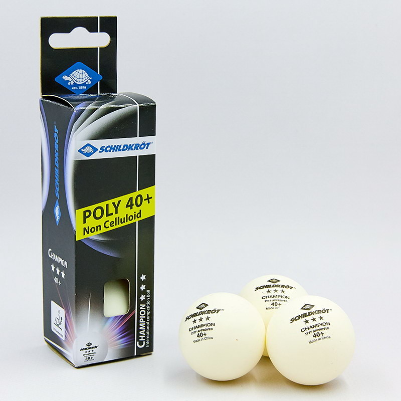 Набор мячей для настольного тенниса donic champion 608540: 3 мяча в комплекте (3 star) фото №1