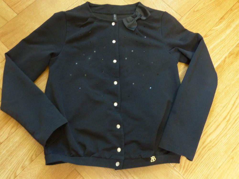Продам школьный трикотажный пиджак smil - размер 140 фото №1