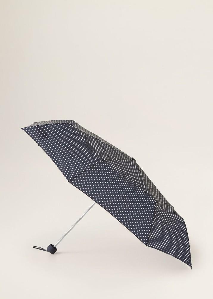 Стильный механический зонт в горох mango оригинал фото №1