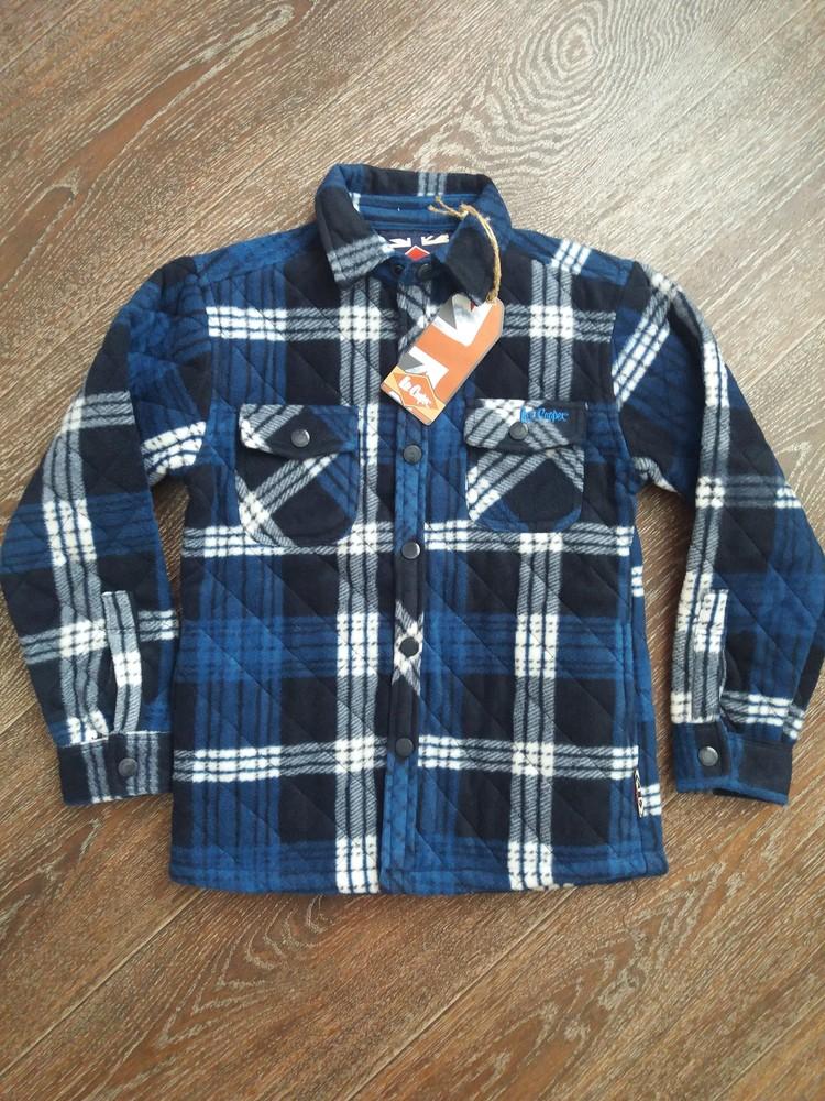 Фирменная, теплая рубашка-ветровка lee cooper англия фото №1