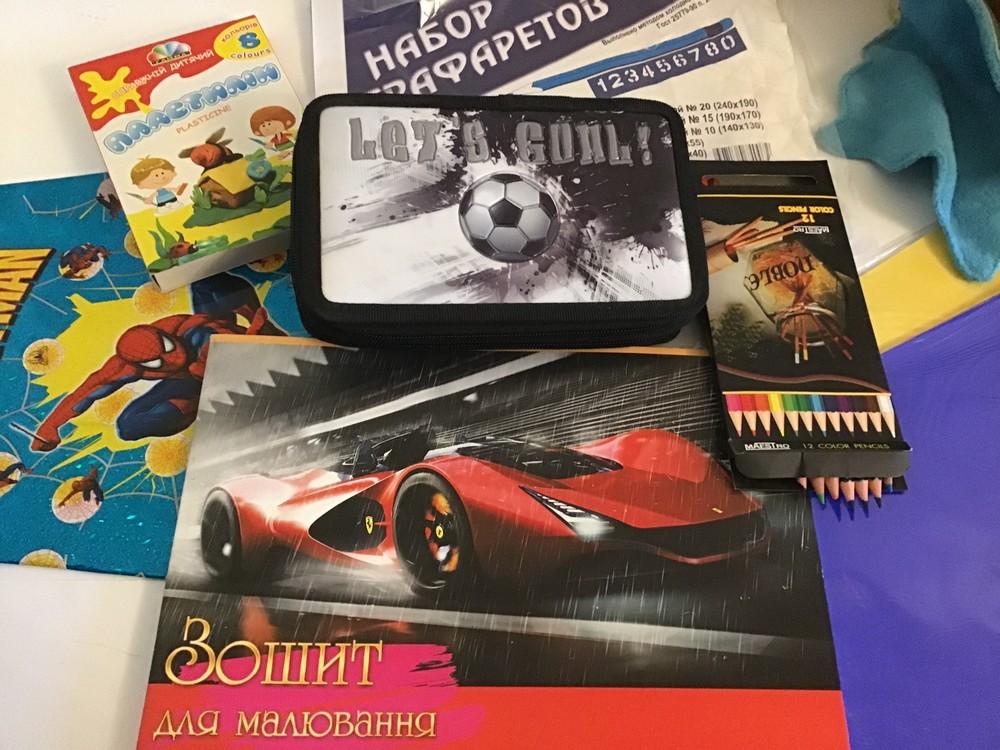 Набор для школы:пенал,альбом,карандаши maestro noble, пластилин (всего 8 предметов) фото №1