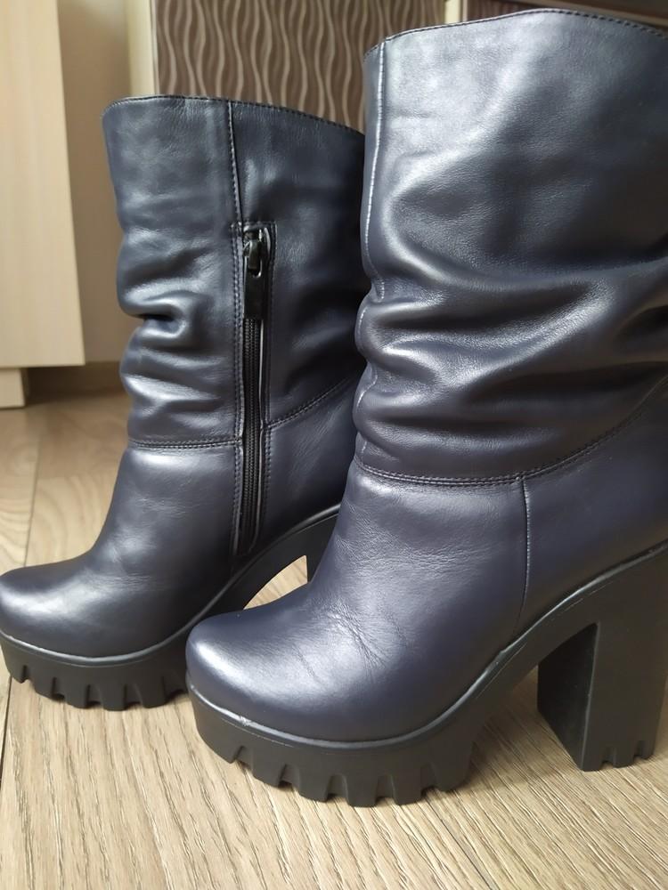 Шкіряні зимові черевики стан нових фото №1