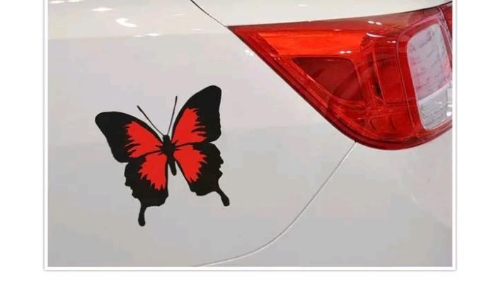Наклейка на авто с бабочкой графический авто стикер на автомобиль фото №1