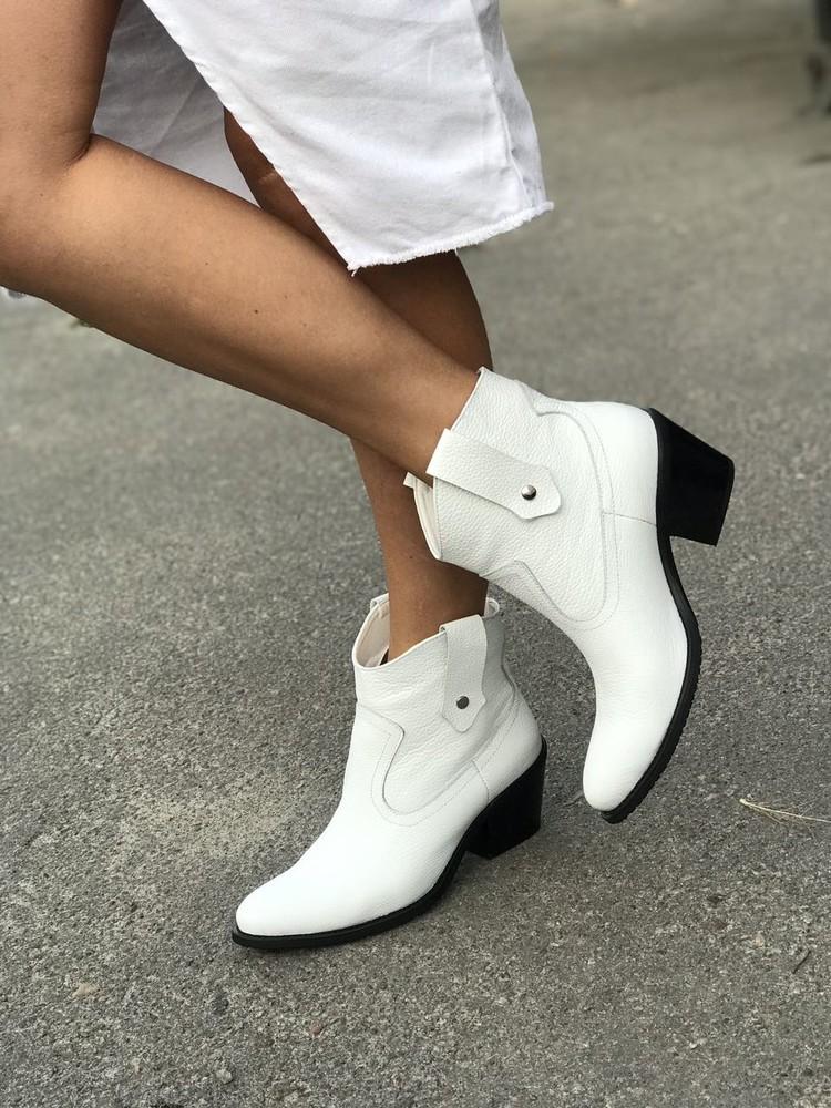 Хит продаж этой осени! стильные казаки ботинки из натуральной кожи ! фото №1