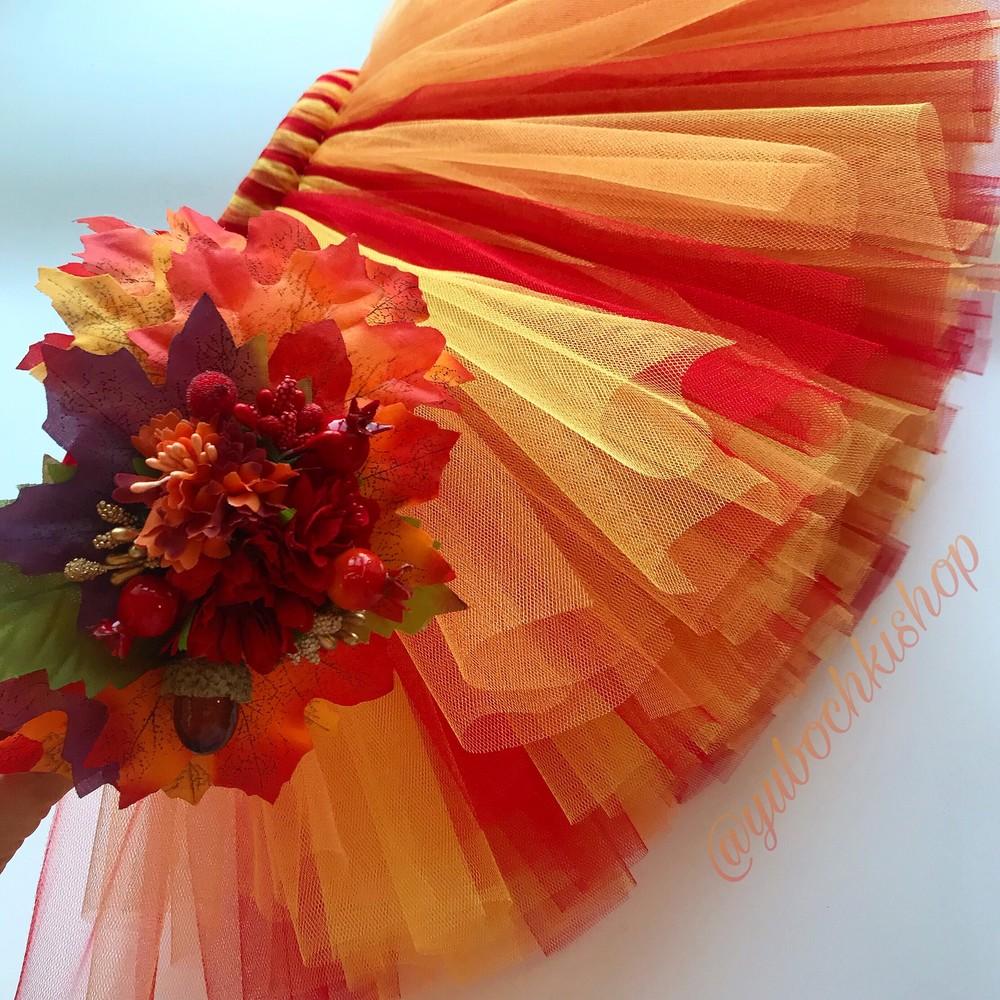Наряды на утренник пышная юбка костюм на праздник осени ободок фото №1