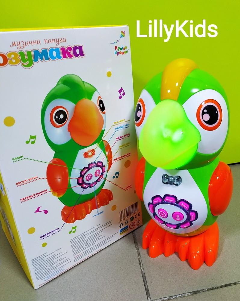 Музыкальный интерактивный умный попугай, розумака, ki-7064, країна іграшок фото №1