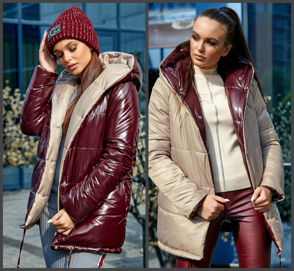 Двухсторонняя модная куртка зефирка 1243 фото №1