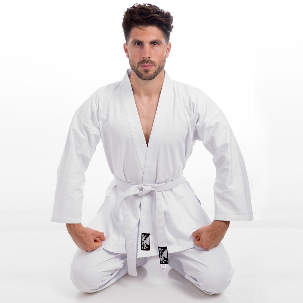 Кимоно для каратэ белое bad boy 8191: размер 140-190см, плотность 240 фото №1