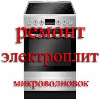 Ремонт электроплит микроволновых фото №1