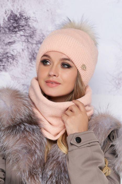 Комплект «тияна» шапка и шарф-хомут артикул 4905-7 фото №1