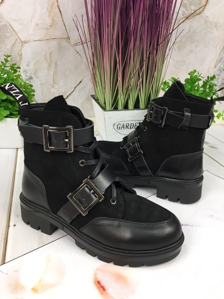 Женские кожаные ботинки, осень/зима фото №1