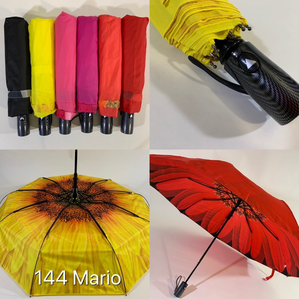 Шикарный крепкий женский зонт полуавтомат двойная ткань. красивенный! фото №1