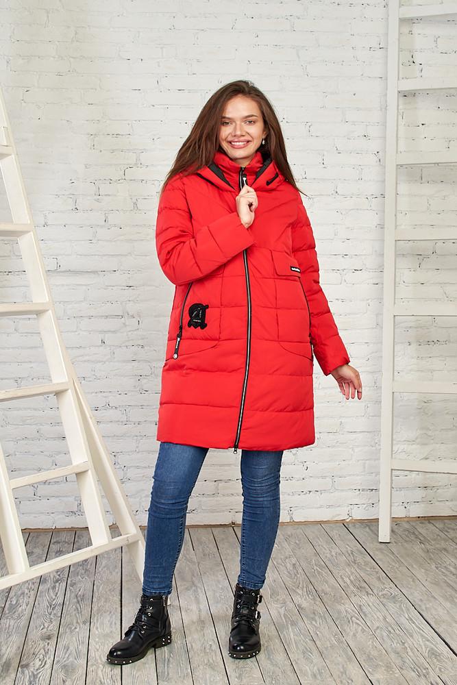 Женская демисезонная куртка, 27314 красный фото №1