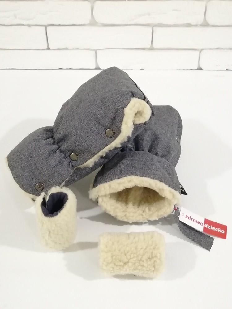 """Муфти-рукавички """"zdrowe dziecko"""" з світловідбиваючою стрічкою. фото №1"""