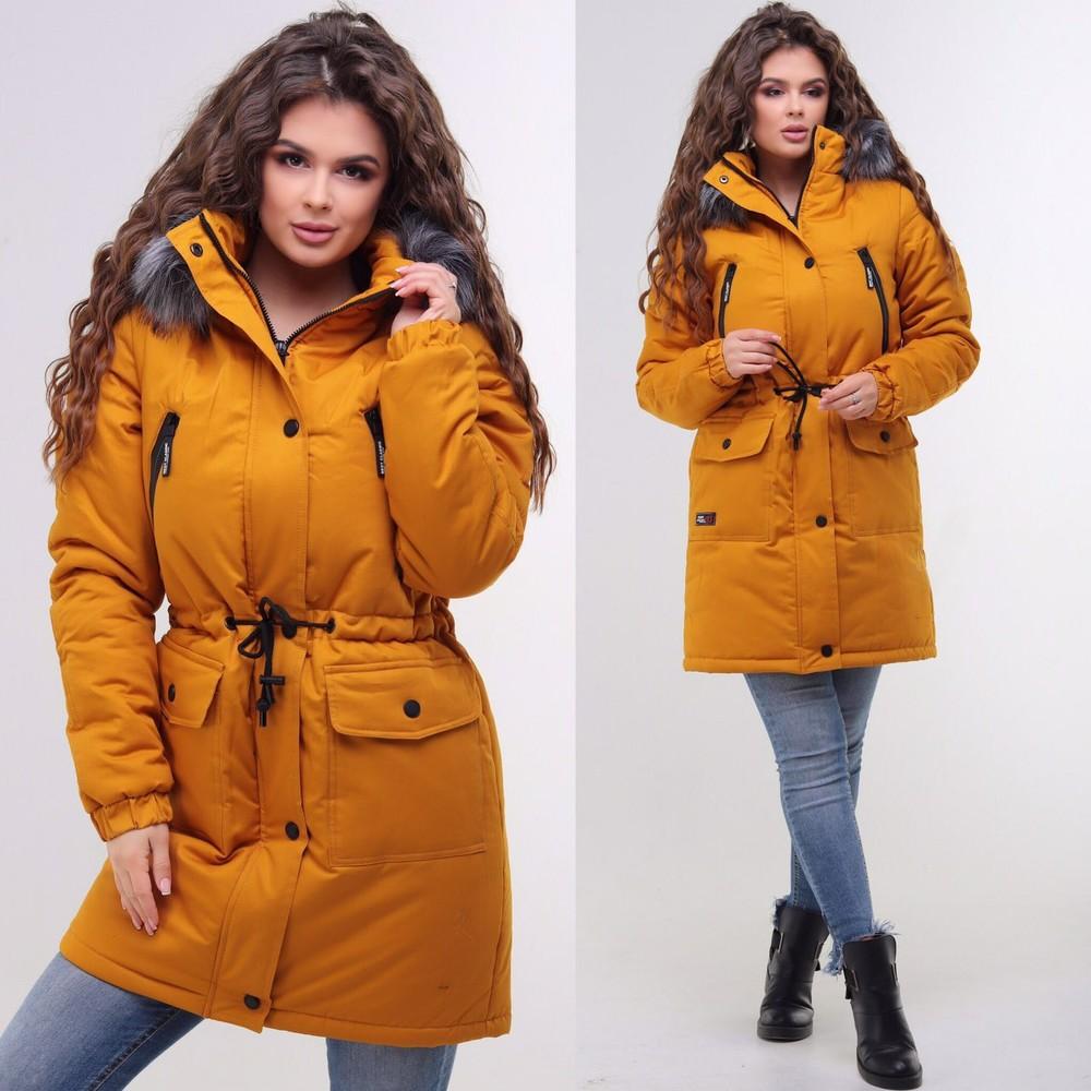 Стильная зимняя куртка парка женская фото №1