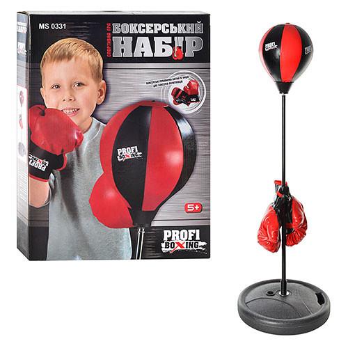Детский боксерский набор боксерская груша на стойке с перчатками чемпионский набор фото №1