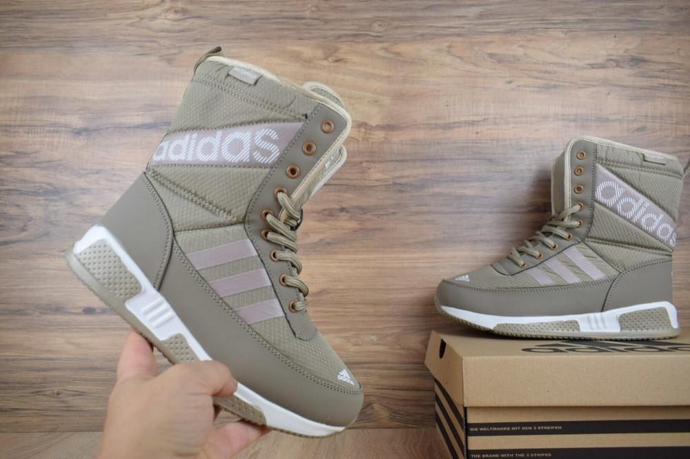 Сапоги зимние adidas бежевые фото №1