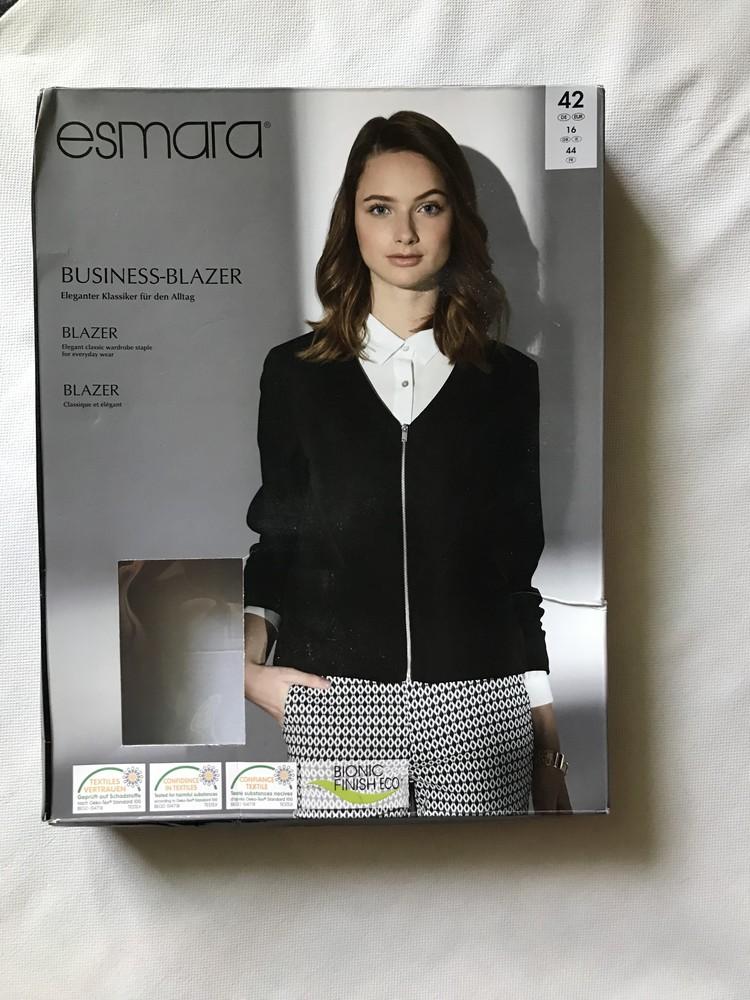 Элегантный шикарный бизнес пиджак блейзер esmara . 42 евро фото №1