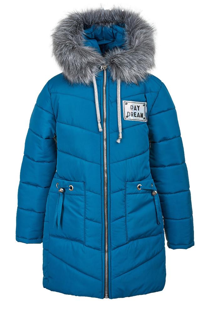 Зимняя куртка розового цвета на девочку-подростка 6-10 лет, 2143 фото №1