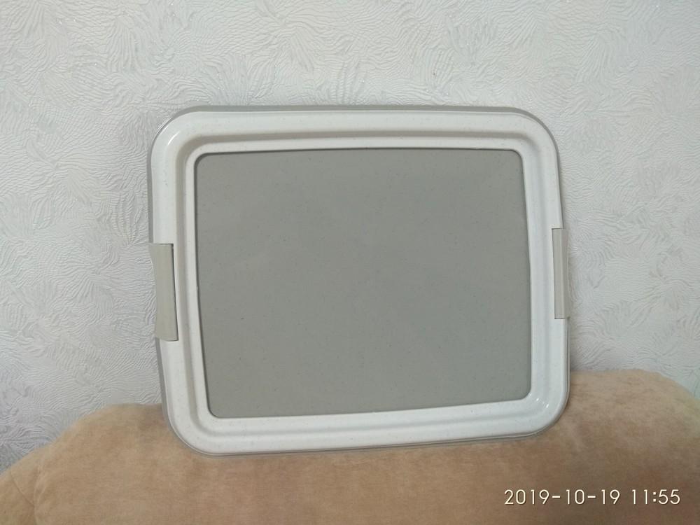 Туалет trixie для щенков 49х41 см светло-серый фото №1