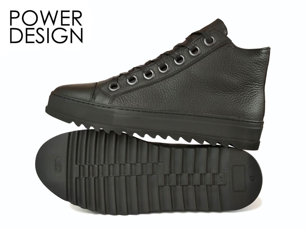 Ботинки мужские кеды утепленные кроссовки power design fjord утеплитель 42р флис фото №1