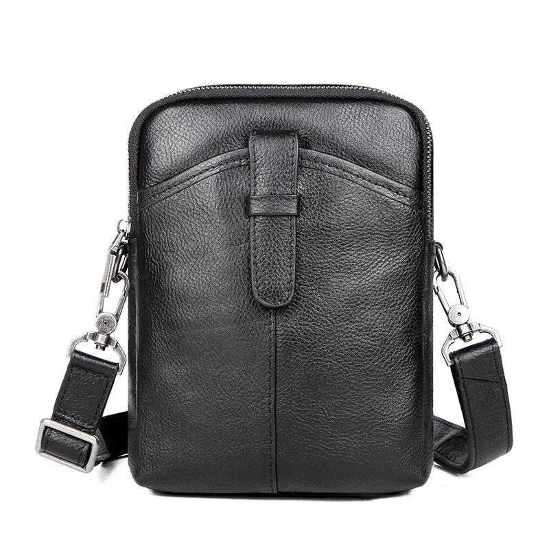 Сумка мужская кожаная через плече барсетка sling bag фото №1