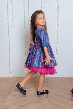 Нарядное платье переливашка блеск бант от производителя 104-152 фото №1
